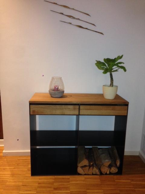 design stahlmöbel mit holz in stahl metall und eiche