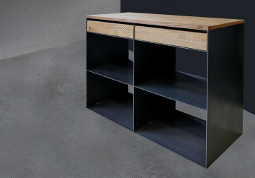 Designagentur stahlbau konstruktion und web for Modernes sideboard aus metall